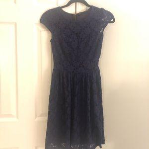 Navy blue lace overlay sundress